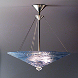 Blue Water Chandelier