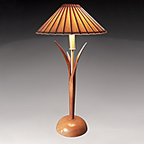 Mahogany Accent Lamp