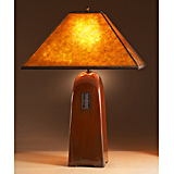 Russet Ceramic Lamp with Mica Shade