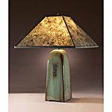 Celadon Ceramic Light with Mica Shade