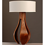 Chloe Walnut Table Lamp