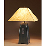 Onyx Pottery Lamp with Lokta Shade