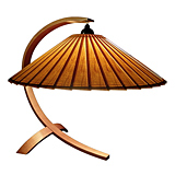 Cherry Arched Table Lamp
