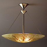 Sunburst Dish Chandelier